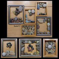 "Stones, rocks, pebbles & empty frames... from Rachel ("",)"