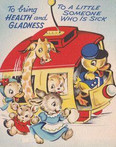 Vintage Cartoon Postcard With psalms Birthday New Unused Birds on Red mailbox