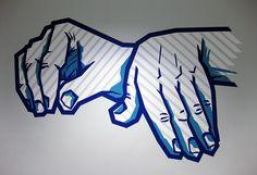 """Bild von """"My music""""- Graffiti aus Gaffa Klebeband"""