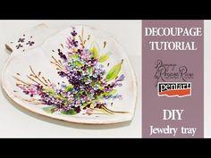 DECOUPAGE TUTORIAL Diy Jewelry Tray / Jewels holder - YouTube