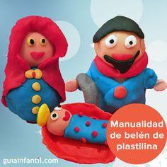 Belén de plastilina, una manualidad de Navidad para jugar con los niños. http://www.guiainfantil.com/articulos/navidad/decoracion/manualidades-de-navidad-belen-de-plastilina/