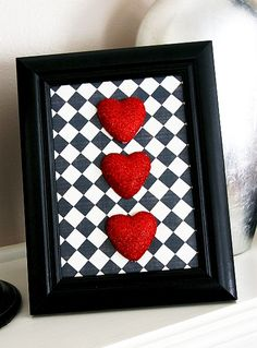 3D Heart art - dollar store craft