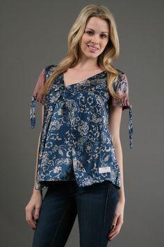 Odd Molly Hookup Short Sleeve Blouse in Indigo 20 Off in Blue (indigo) - Lyst