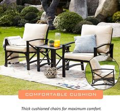 """Patio chairs are the key """"ingredient"""" for the patio space you have. Not only can they add up in terms of decoration, they will also serve as means to a good time with friends and family. With the right pick, you will transform your outside space in visuals and allow yourself some enjoyable relaxing time on your patio. Patio Furniture Sets, Patio Chairs, Swivel Chair, Outdoor Gardens, Home Goods, Backyard, Household Products, House Design, Key Ingredient"""
