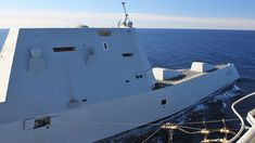 Pics Of USS Zumwalt While Replenishing At Sea Show Yet Another Non-Stealthy Antenna Navy Day, Us Navy, Uss Zumwalt, E Boat, The War Zone, Military News, Big Guns, Cost Saving, Flight Deck