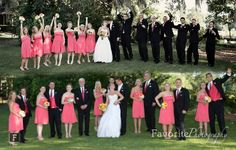 © Favorite Photography | Great Photo Ideas for Large Bridal Party | Fun Poses | Outside at Country Club of Orange Park