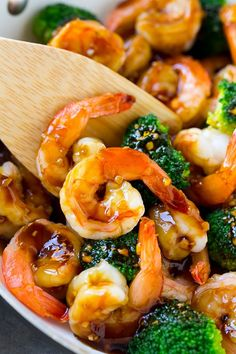 This honey garlic shrimp stir fry is an easy recipe that's ready in 20 minutes.