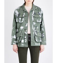 NSF Hunter paint-splatter denim jacket