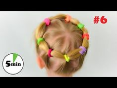 Very lovely and practical hairstyle for little girl. Quick and easy hairstyle #6 - YouTube