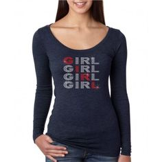 ''Girl''  Next Level Woman Tri-Blend Long Sleeve Scoop.ndk1659