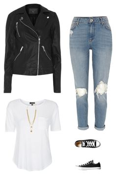 """""""Tomboy"""" by fabfitfashionable ❤ liked on Polyvore featuring Dorothy Perkins, Topshop, Converse, Vince Camuto, River Island, look and relaxed"""