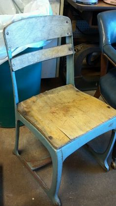 Cool Old School Desk Chair (no Desk). $18! 501 548