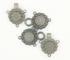 Nickel SIlver Color Complicated Gothic Wheel Cloak Clasp Fasteners.