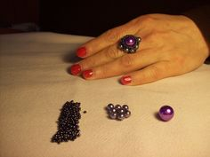 Δαχτυλίδι από χάντρες -Elegant Beaded RING