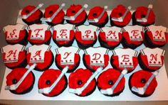 Hockey themed cupcak