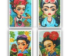 Handmade frida kahlo – Etsy