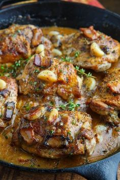 Rustic Roasted Garlic Chicken with Asiago Gravy recipes family;dinner recipes for family;healthy recipes for family;recipes for family; Crock Pot Recipes, Turkey Recipes, Cooking Recipes, Healthy Recipes, Keto Recipes, Game Recipes, Cooking Ideas, Braiser Recipes, Garlic Recipes
