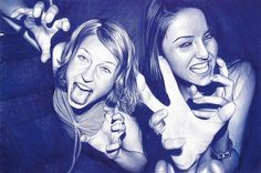 Juan Francisco Casas - Drawings done only in bic pen...truly amazing!