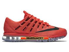 Nike Air Max 2016 Chaussures de Running Pas Cher Pour Homme Rouge/Noir 806771-600