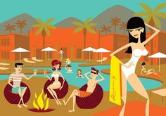 Shags new print Riviera Retreat Limited Release