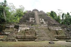 The Mayan High Temple in Lamanai, Belize