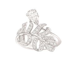 Chanel - Bague plume - White gold with diamonds