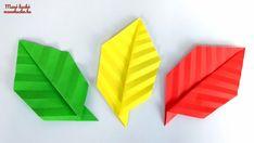 Őszi dekorációs ötletek papírból – Origami: Falevél hajtogatás