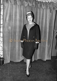 09 March 1964 McBirney's Fashion show at McBirney's, Aston Quay, Dublin. Image shows model Marion wearing a jersey suit. Irish Fashion, Fashion Show, Fashion Outfits, Photo Archive, Image Shows, Suits, Clothing, Model, How To Wear