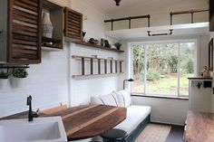 The leading tiny house marketplace. Search thousands of tiny houses for sale and rent and connect with tiny house professionals. Tiny House Luxury, Tiny House Swoon, Tiny House Living, Tiny House On Wheels, Tiny House Design, Living Room, Small Living, Mini Loft, Tiny House Trailer