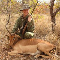 Riebelton Safaris#Louise Frosch#First antelope hunt#Impala#Bronze Medal Trophy#Proud Dad!
