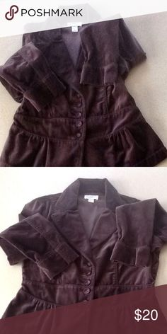 💖Loft plum color velvet jacket💖 💖Fabulous Loft plum color velvet jacket💖dress it up with favorite dress or dress down with jeans💖 LOFT Jackets & Coats