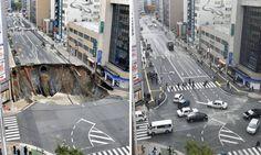 Em apenas uma semana, cratera em cidade japonesa é consertada  Leia mais sobre esse assunto em http://oglobo.globo.com/sociedade/tecnologia/em-apenas-uma-semana-cratera-em-cidade-japonesa-consertada-20469072#ixzz4Q5En7sDT  © 1996 - 2016. Todos direitos reservados a Infoglobo Comunicação e Participações S.A. Este material não pode ser publicado, transmitido por broadcast, reescrito ou redistribuído sem autorização.