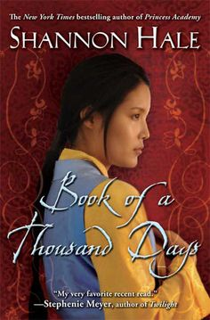 Book of a Thousand Days, by Shannon Hale. I love all of Shannon Hale's books. This was no exception. The story of a girl and her mistress stuck in a tower, a war, and a romance that wasn't meant to happen. What really struck me was how resigned the main character was to her low status. At first she didn't question it.
