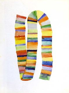 """Richard Tuttle - """"Stacked Color Drawing #1"""" (1971) http://www.art21.org/images/richard-tuttle/stacked-color-drawing-1-1971"""