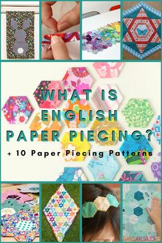 What is English Paper Piecing 10 Free Patterns Paper Pieced Quilt Patterns, Quilt Patterns Free, Sewing Patterns, Quilting Tutorials, Quilting Designs, Quilting Tips, What Is English, Foundation Paper Piecing, Tatting Patterns