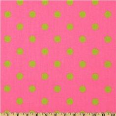 Premier Prints Polka Dot Pink/Chartreuse  Item Number: UR-180  Our Price: $7.48 per Yard