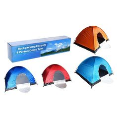 HYHW13111 - 4 Person Backpacking Tent - Assorted Colors | Sears Outlet
