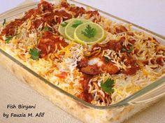 Tandoori/Tikka Chicken Biryani - Fauzia's Kitchen Fun Spicy Recipes, Fish Recipes, Seafood Recipes, Indian Food Recipes, Asian Recipes, Chicken Recipes, Cooking Recipes, Ethnic Recipes, Indian Foods