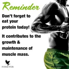 Protein is incredible! What protein will you be enjoying today? Share with us underneath! Clean9, Forever Living Business, Forever Living Aloe Vera, Cleanse Program, Nutritional Cleansing, Body Hacks, Forever Living Products, Muscle Mass, Weight Management