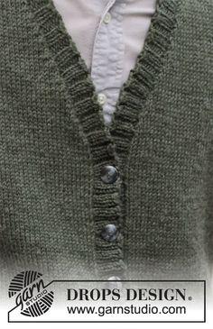 Mens Knit Sweater Pattern, Sweater Knitting Patterns, Free Knitting, Drops Design, Work Tops, Drops Karisma, Knit Crochet, Thing 1, Chain Stitch