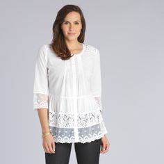 Tiered Lace Blouse a