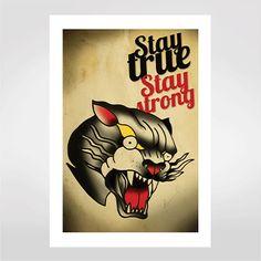 Fine art Stay true, stay strong por Deu Cria R$48,00