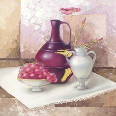 Stilleben mit Weintrauben