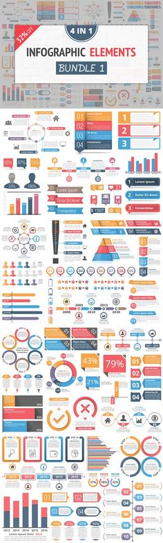 Infographic Elements Bundle 1. Graphic Design Infographics. $20.00