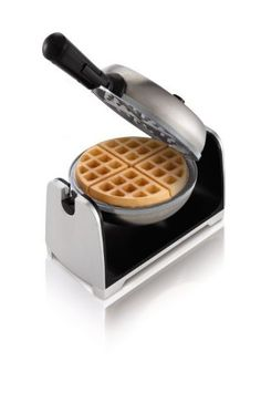 Oster CKSTWFBF22-ECO DuraCeramic Flip Waffle Maker,  Stainless Steel by Jarden Consumer Solutions $39.99. For the serious waffle enthusiasts check this baby out. It has ceramic plates rather than Teflon so you eliminate that health issue. This will take up a decent amount of counter/cupboard space so make sure you have it to spare. I always recommend reading the customer reviews for more feedback. This received high ratings.