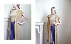 Handmade sleeveless cardigan in wool fabric #NordandNovels #NordNovels #SS16 #minimalism #camel