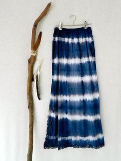 MIDNIGHT MUSE . women's tie dye maxi skirt . size por bohemianbabes