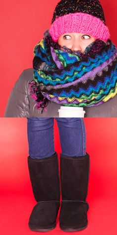 The heat's turned up and she's buried in blankets with a hot chocolate in hand, but she's still freezing. She's The Girl Who's Always Cold, so she needs a cute winter boot to keep her warm (probably well into spring), along with a beanie, gloves, and scarf, of course. Gifts Under $75: the Bearpaw Emma Boot. Gifts Under $25: the Mix No. 6 Oversize Pom Color Block Beanie, the Mix No. 6 Marled Convertible Gloves, the Mix No. 6 Boucle Plaid Scarf