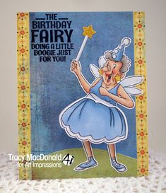 Art Impressions Rubber Stamps: Ai Shakers: Birthday Fairy Shaker... handmade interactive card with wobble. Birthday Fairy Set (Sku#4730)