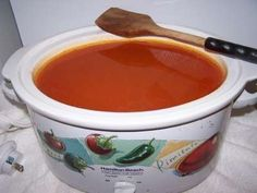 How to make and can homemade barbecue sauce from fresh tomatoes - made easy, and illustrated!